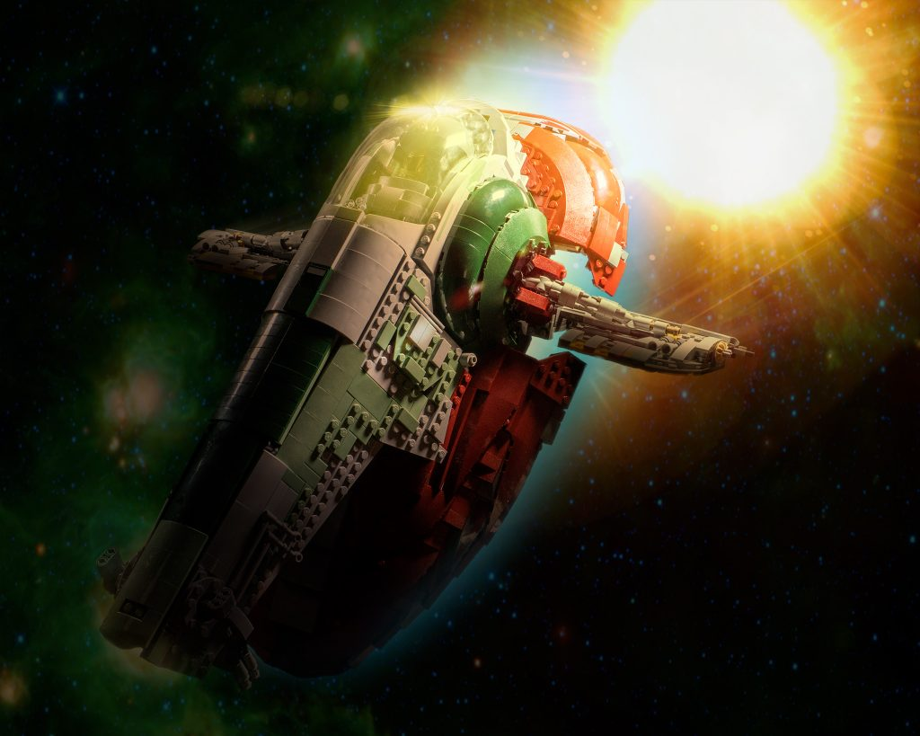 Slave 1 in space