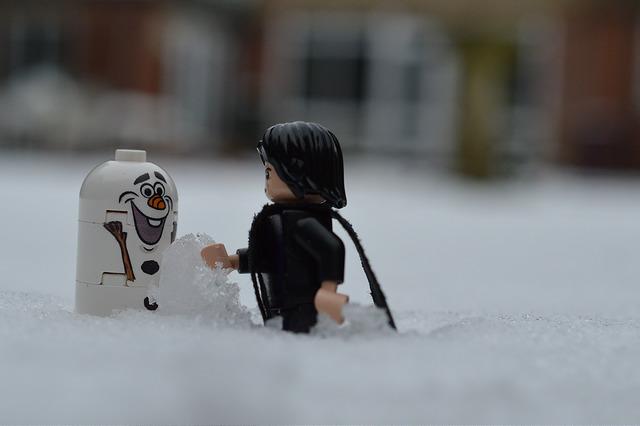LEGO Snape and Olaf