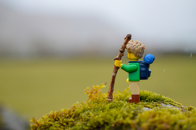 LEGO hiker in the Lake District