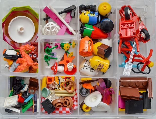 LEGO accessories in a box