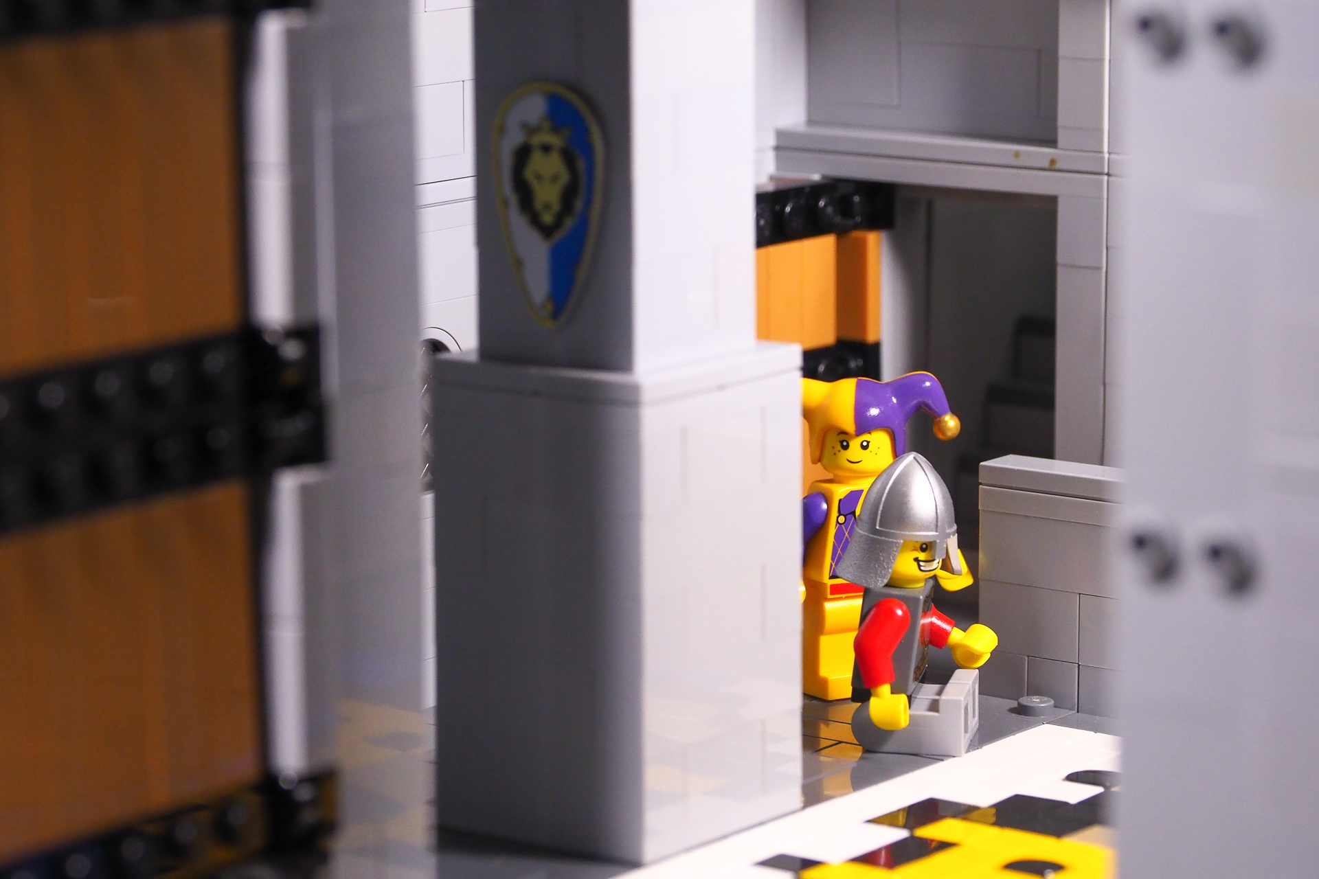 LHS: Reverse doors to save on parts | Centre: use studs to hold Minifigures | RHS: remove sections to gain access