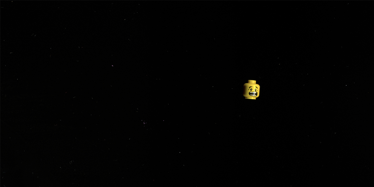 LEGO head floating in space