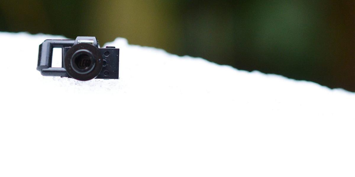 LEGO camera on snow