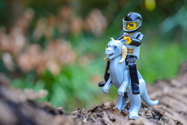 LEGO TaunTaun being ridden by a technic figure