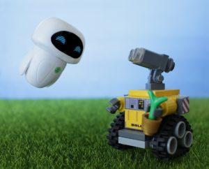 LEGO Wall-E and Funko Eve by James Garcia