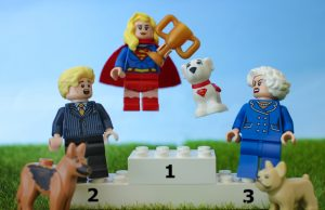 LEGO Supergirl and Krypto by James Garcia