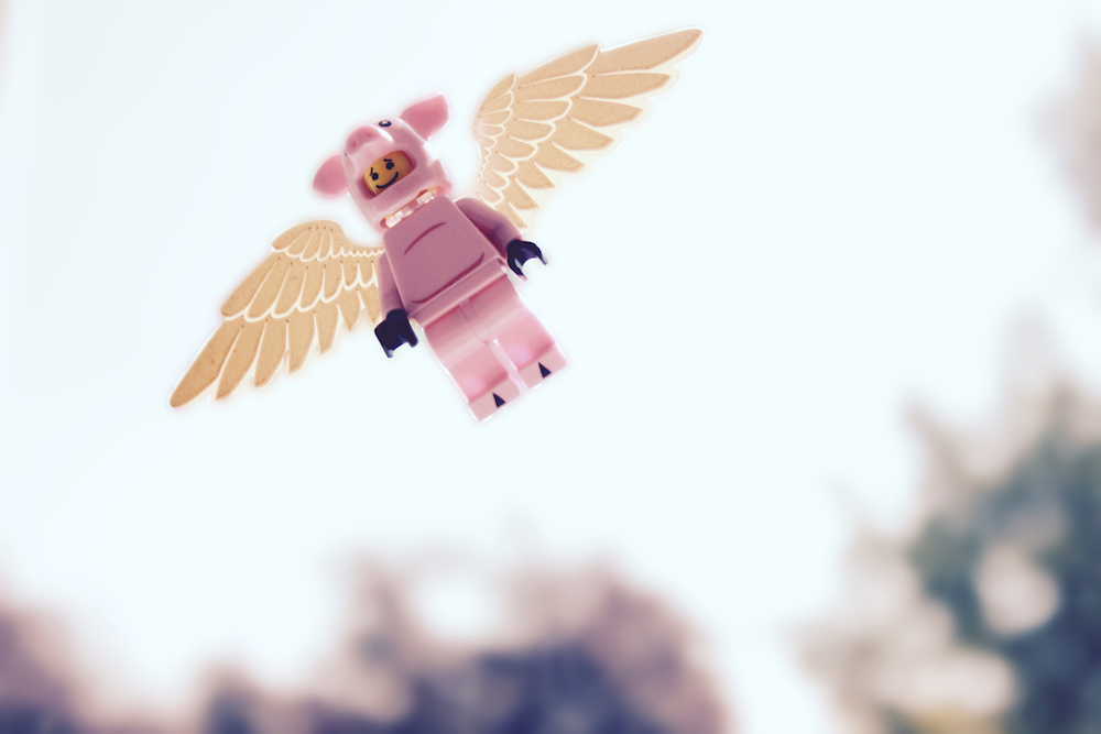 LEGO flying pig by James Garcia