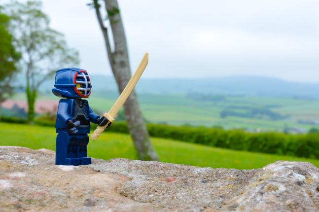LEGO kendo figure in Somerset