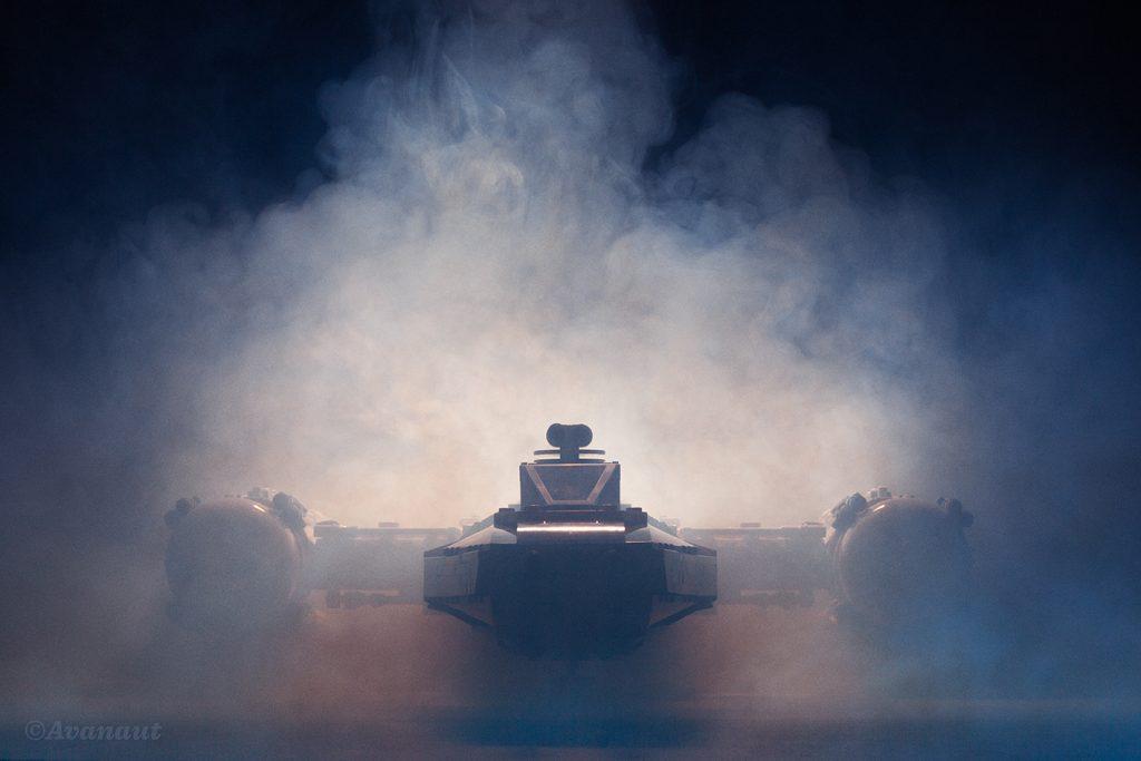 LEGO UCS Y-Wing engulfed in smoke by Avanaut