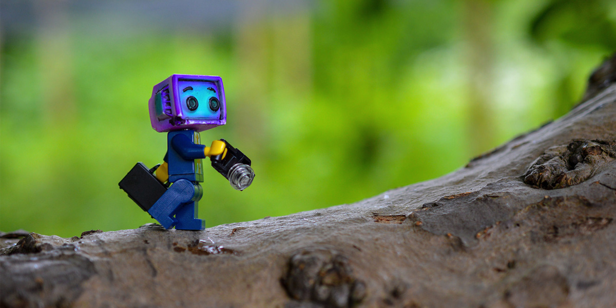 LEGO figure with camera