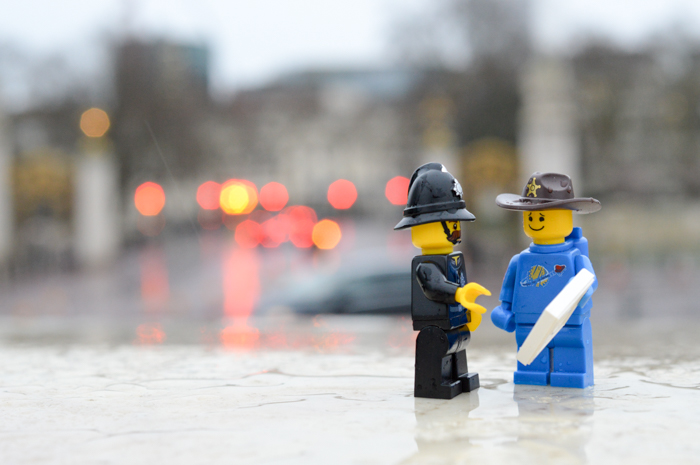 LEGO figures in London