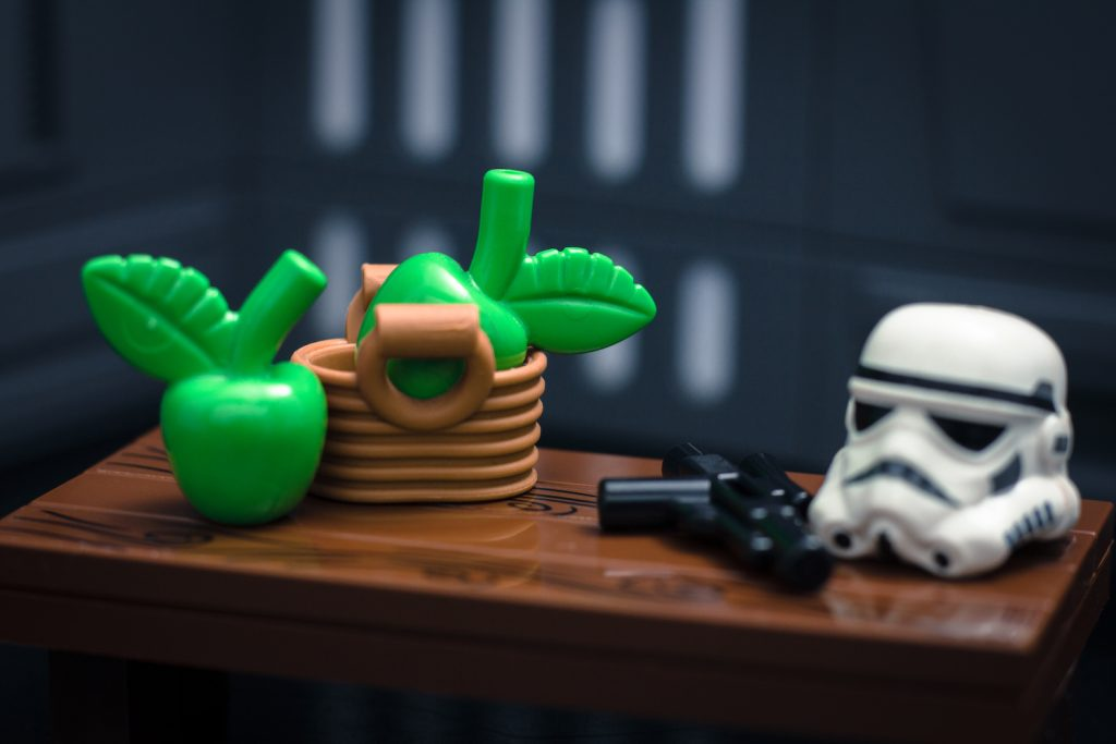 LEGO Still Life Star Wars stormtrooper and apples by James Garcia