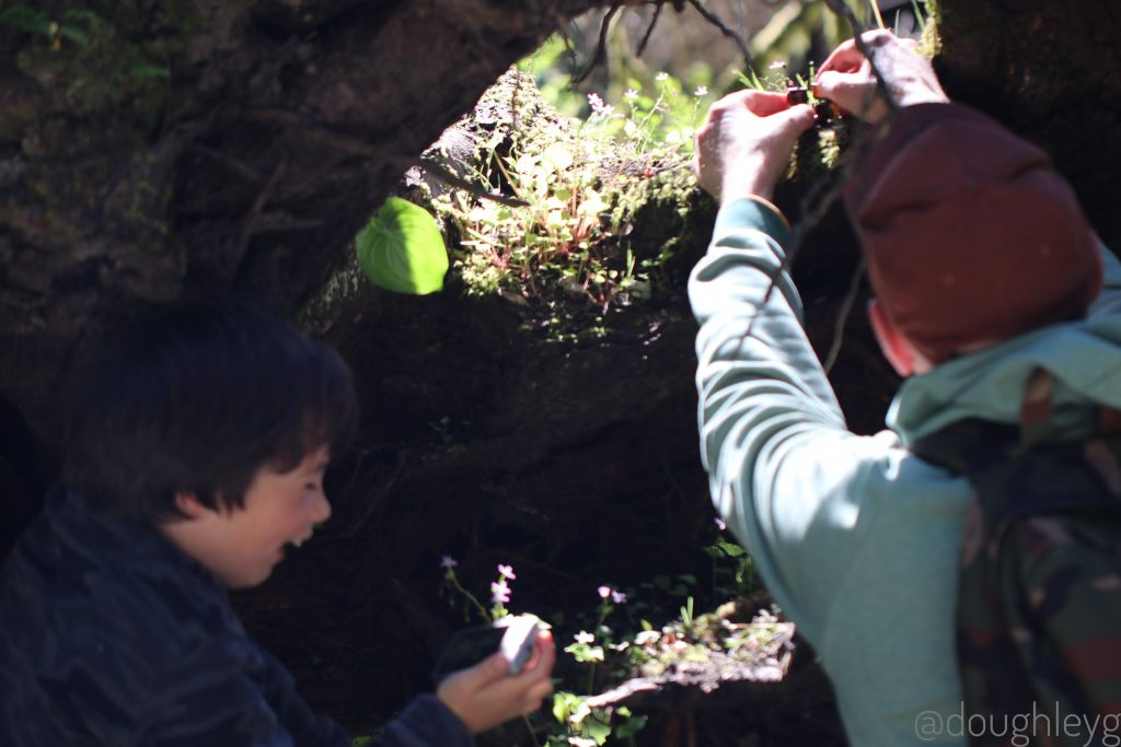 Safari : The Boy and Johnny setting up some shots.