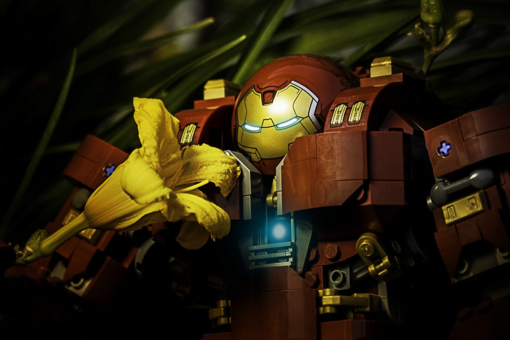 Hulkbuster stops to smell the flowers