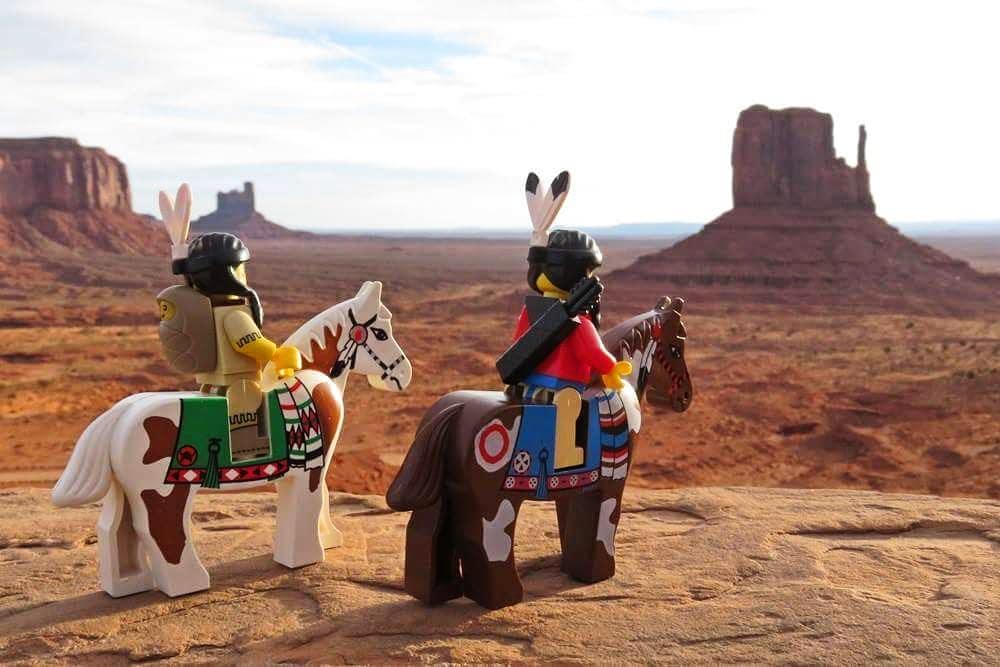 Native American landscape LEGO by legofanpix