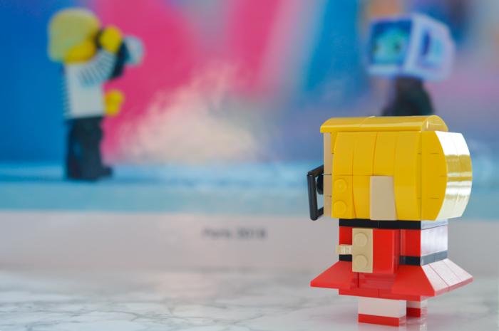 LEGO BrickHeadz with a book