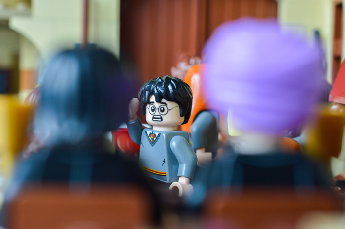 LEGO Harry's scare hurts at the feast!