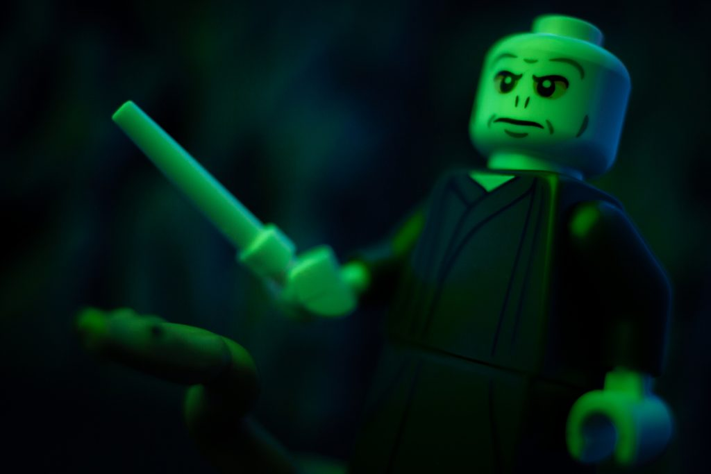 LEGO Voldemort minifigure by James Garcia