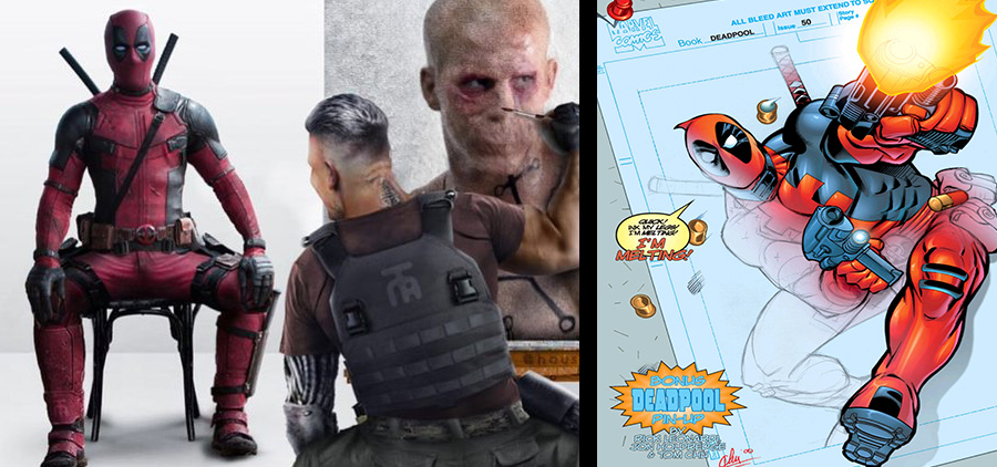 two deadpool images