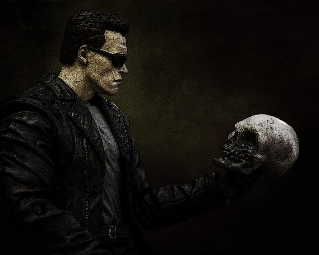 Terminator doing Hamlet