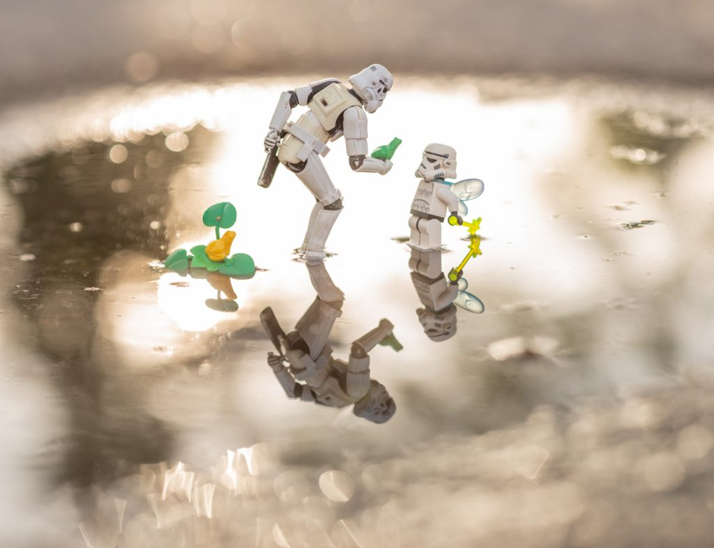 Stormtrooper fairy magic lego toy photography by Kristina Alexanderson