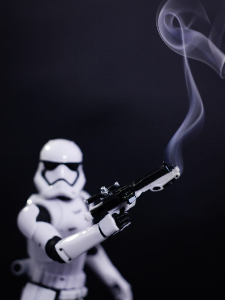 Star Wars Black Series Stormtrooper toy photography by James Garcia