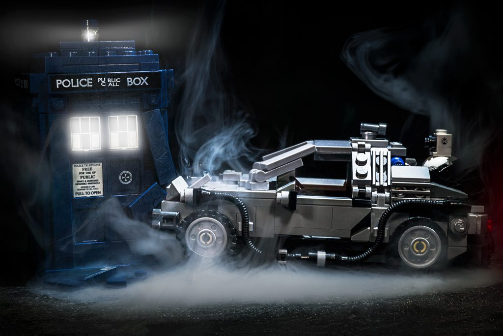 Delorean hits TARDIS
