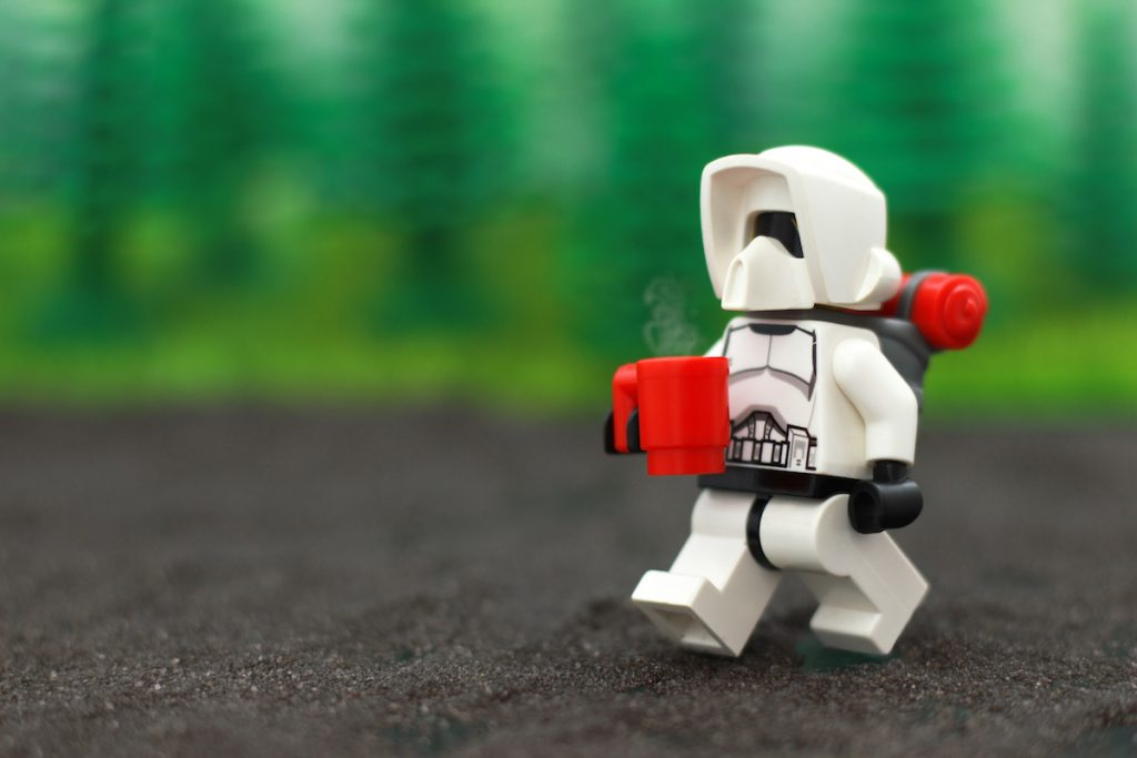 LEGO Star Wars Scout Trooper hiking minifigure by James Garcia