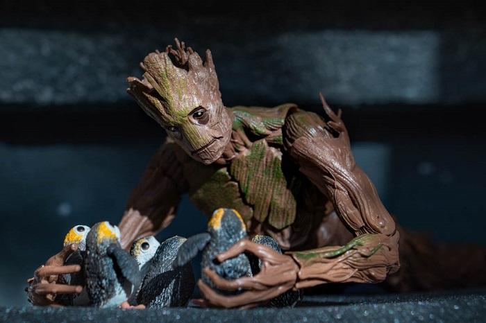 Groot with porgs - Teddi Deppner @teddi_toyworld