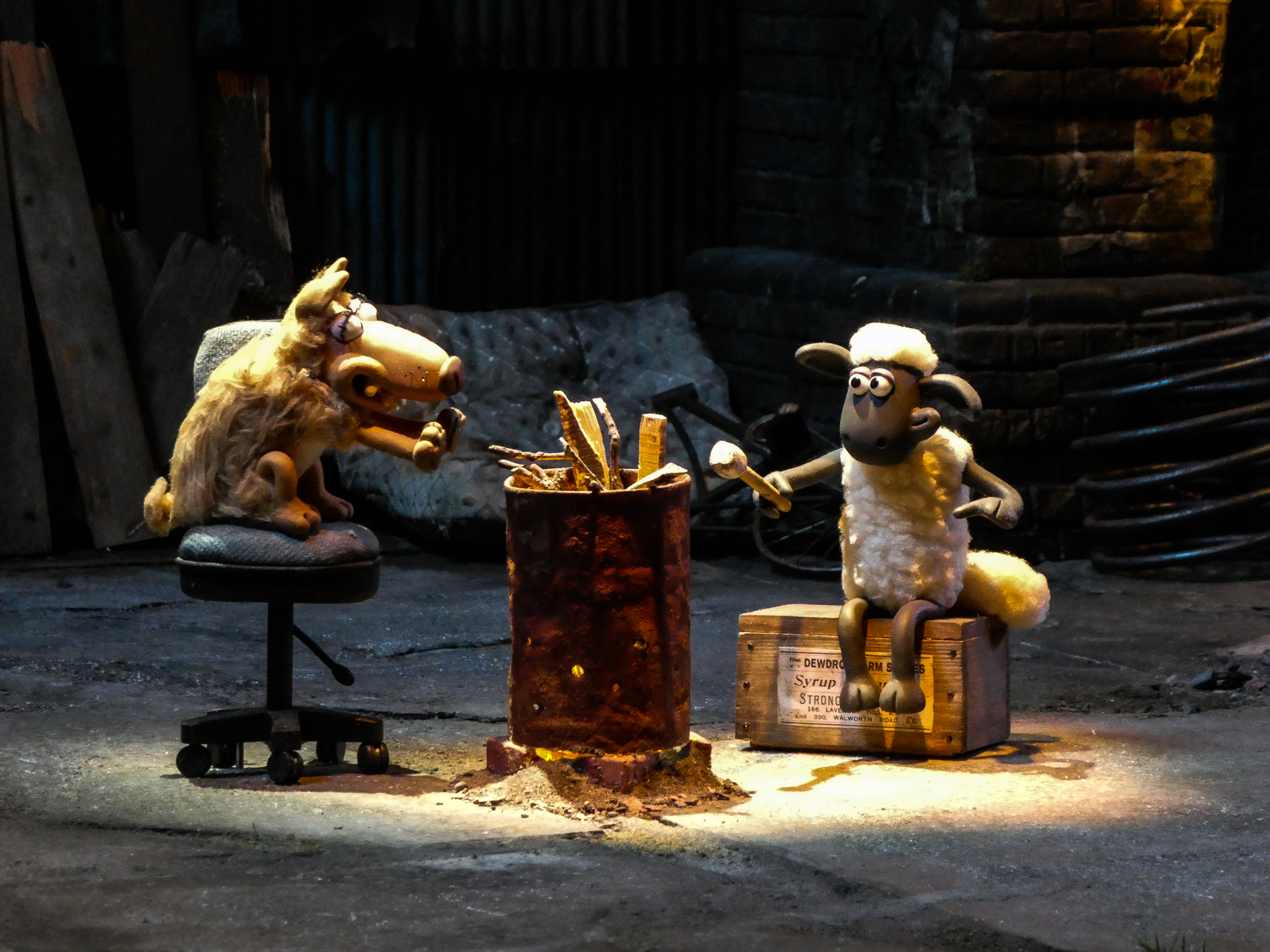 Wallace and Gromit and Friends - lighting set up detail