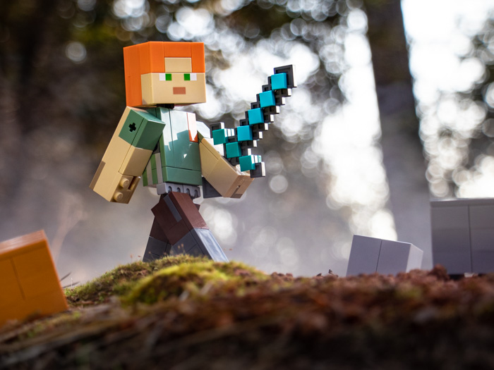 LEGO Minecraft BigFig Alex in the woods by @teddi_toyworld