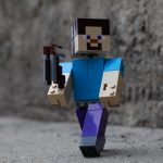 LEGO Minecraft BigFig Steve face in shadow