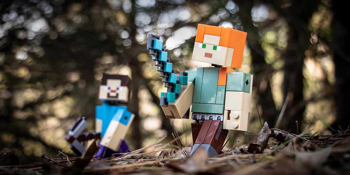 LEGO Minecraft BigFig Alex and Steve by @teddi_toyworld