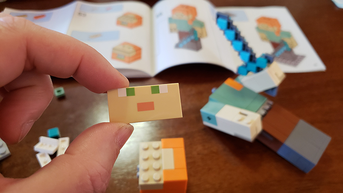 LEGO Minecraft BigFig face paint job