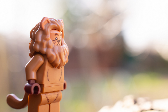 The Cowardly Lion LEGO figure