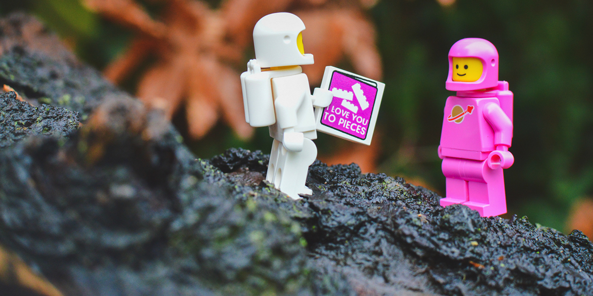 A little LEGO love on Valentine's Day