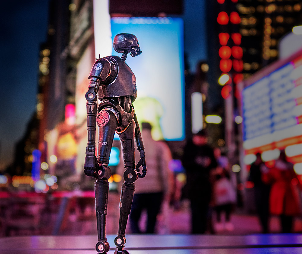 K-2SO in Times Square