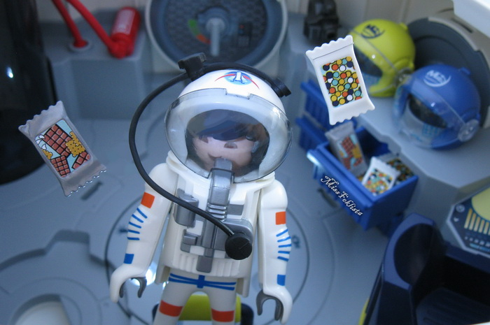 The Astronaut with flying space food