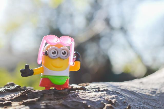 Toy summer dressed minion