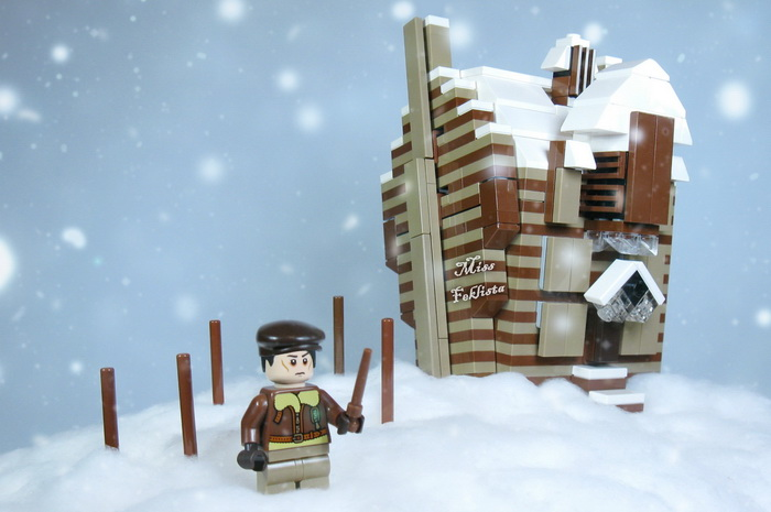 The wizard in a snowy village