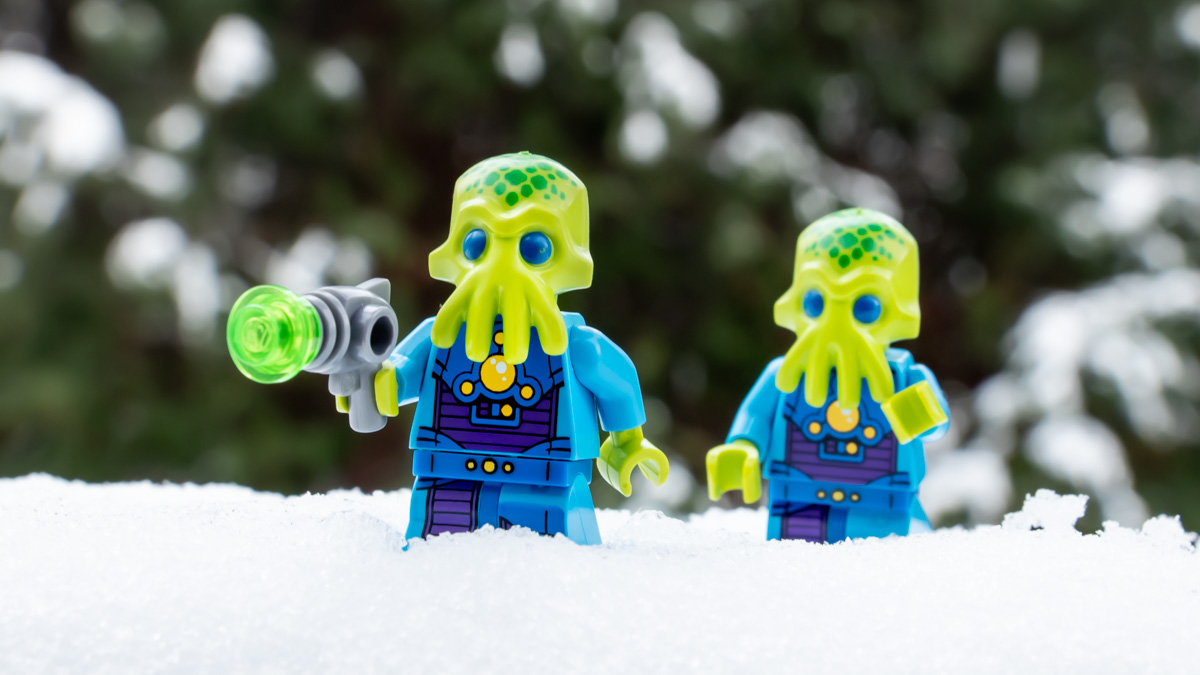 The Lost Invasion Force in the Snow by @mightysmallstories
