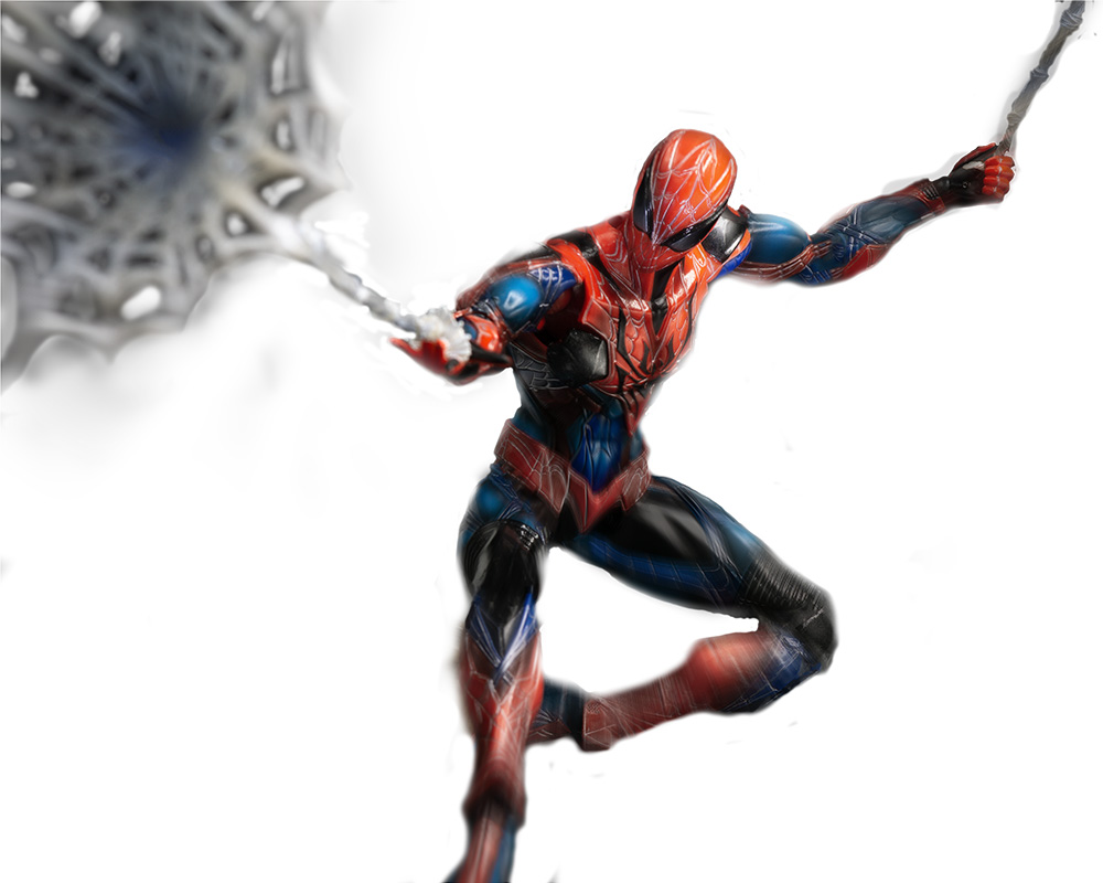 blurred Spider-Man image with motion blur