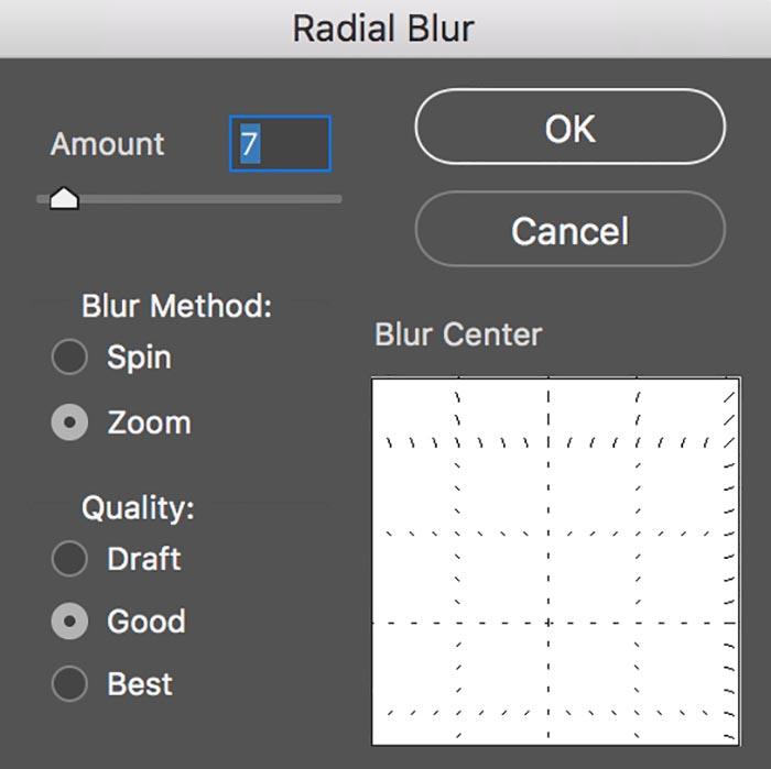 radial blur control