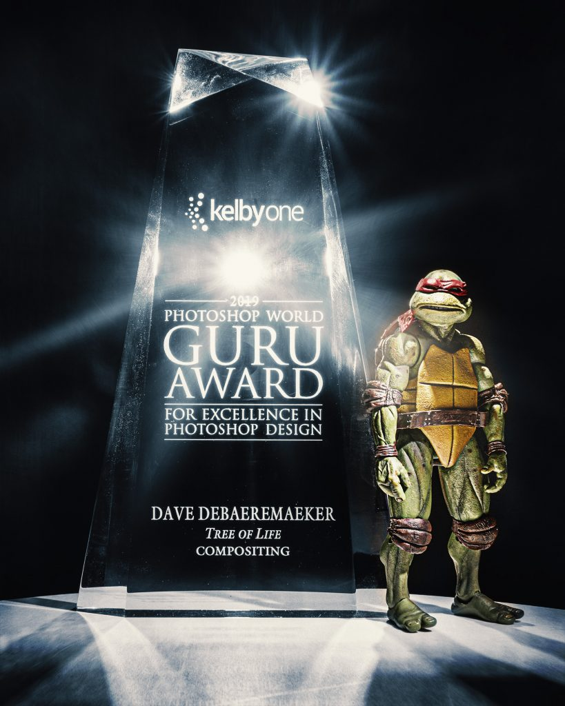 Guru Awards come in a cool crystal trophy.