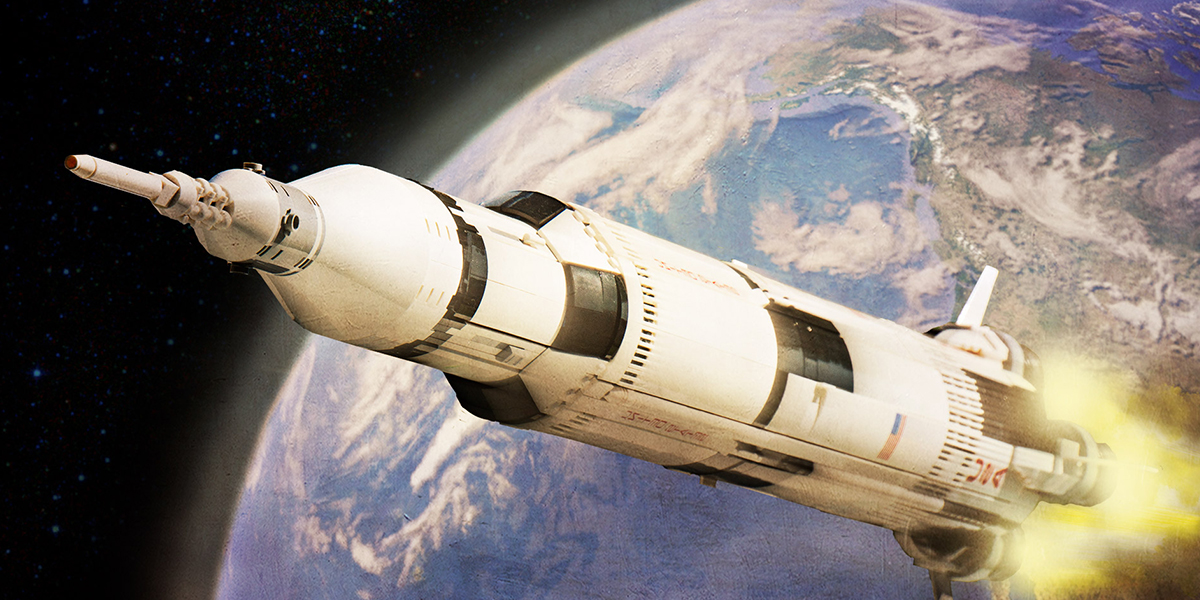 To Boldy Go… With the LEGO Saturn V