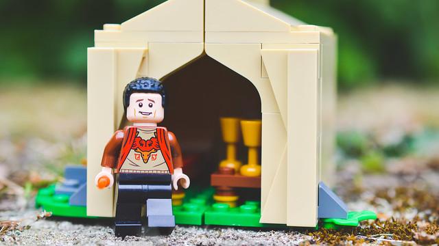 LEGO Viktor Krum leaving the tent