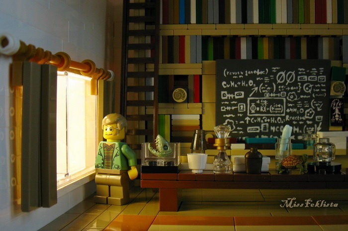 The scientist in his room