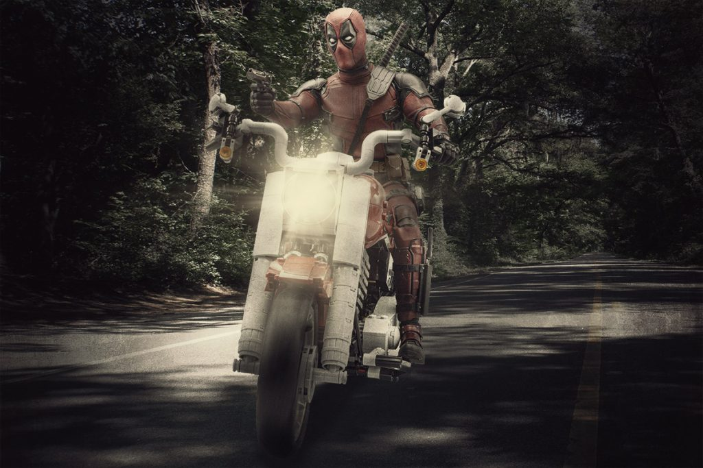 Deadpool on the Fat Boy