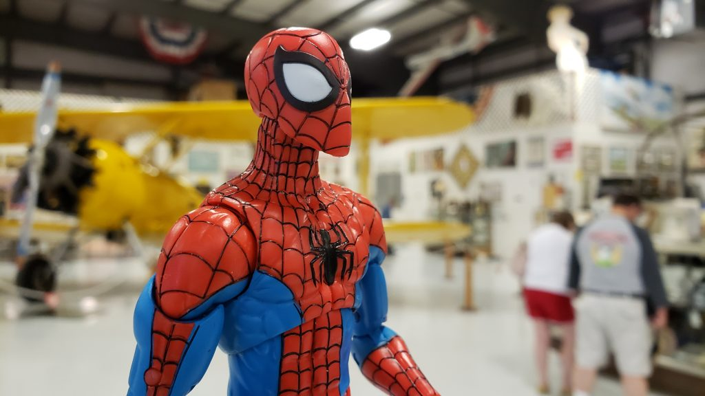 Spidey at the air museum by @teddi_toyworld