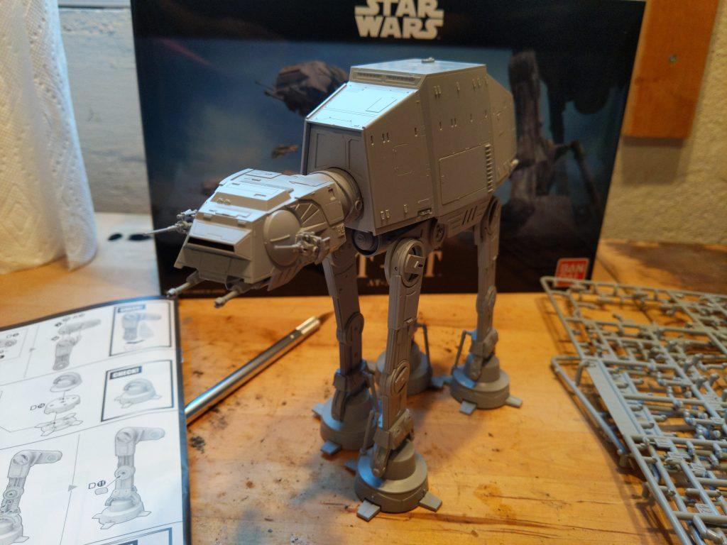 assembled model.